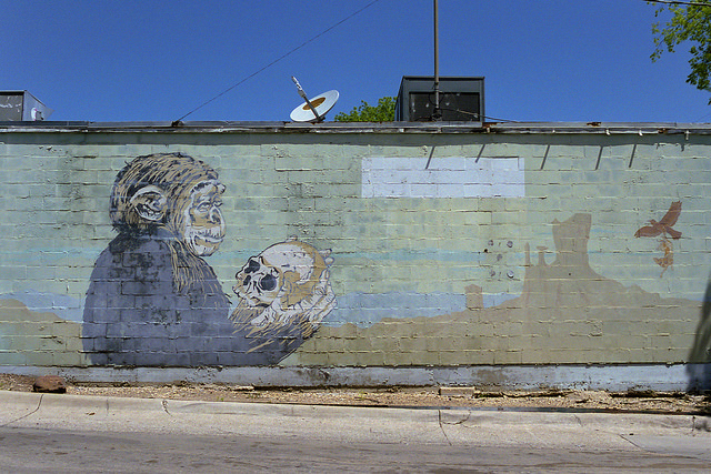 Shakespeare monkeys mural