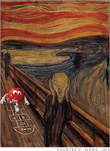 The Scream with m&m